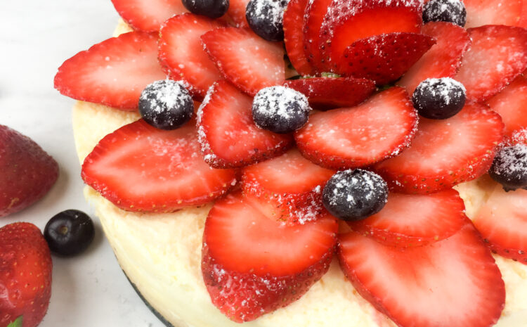 Instant Pot Cheesecake with Fresh Berries