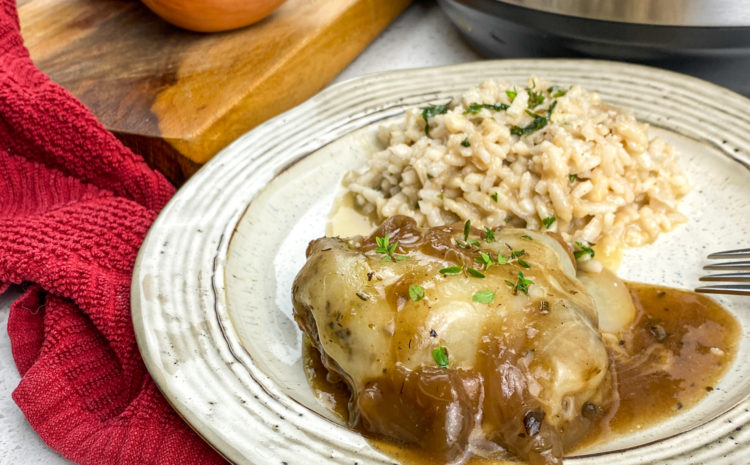 Instant Pot French Onion Chicken